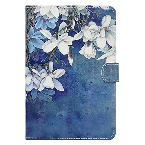 Galaxy Tab A 8.0 inch Case,LittleMax(TM) Ultra Slim Lightweight Thin PU Leather Stand Flip Case Cover Auto Sleep/Wake Samsung Galaxy Tab A 8.0'' SM-T350-02 White Floral by LittleMax (Image #3)