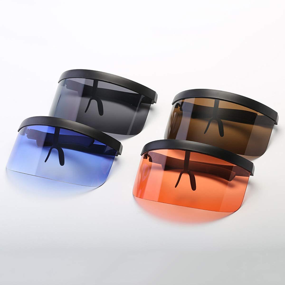 VORCOOL Oversize Gafas de Sol Futuristic Shield Visera Flat ...