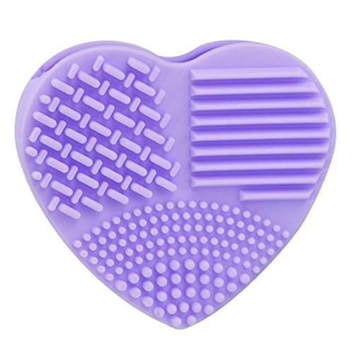 FORUU Make up Brushes, 2019 Valentine's Day Surprise Best Gift For Girlfriend Lover Wife Party Under 5 Free delivery Silicone Fashion Egg Cleaning Glove Makeup Washing Brush Scrubber Tool Cleaners (Best Budget Makeup Brushes 2019)