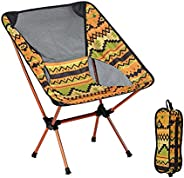 Lightweight Compact Folding Camping Chairs, Portable Backpacking Fishing Chair with Storage Bag, Perfect Chair