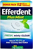 Efferdent Plus Mint Denture Cleanser Tablets 90 ea (Pack of 12)