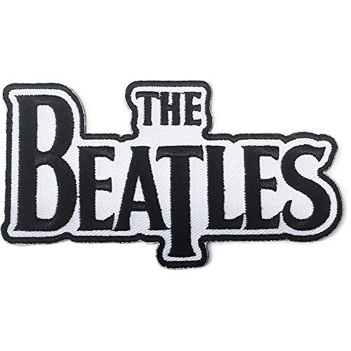 The Beatles Classic Embroidered Iron on Patch (Drop T Logo Black) ()