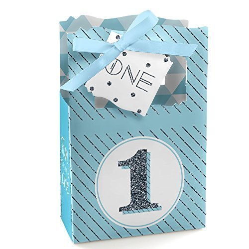 (1st Birthday Boy - Fun to be One - First Birthday Party Favor Boxes - Set of)
