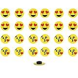 Imãs Enfeite de Geladeira e Painel Botão Emojis - 24 Unidades