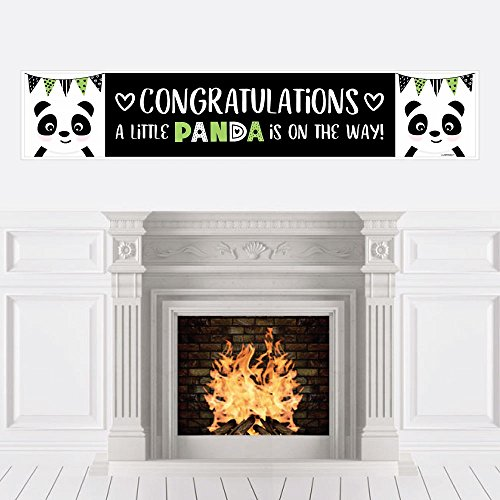 Big Dot of Happiness Party Like a Panda Bear - Baby Shower Decorations Party Banner