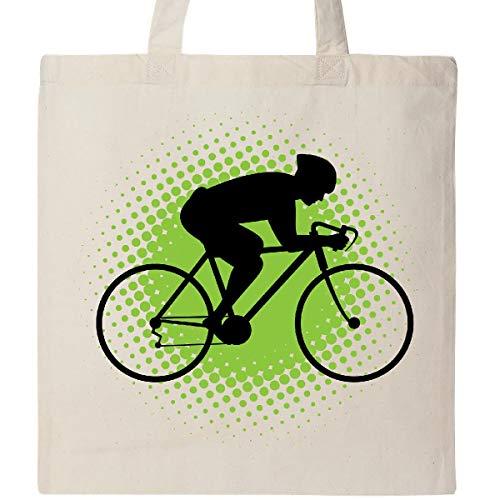 Inktastic - Cycling Bicycle Racing Biking Tote Bag Natural 30d8c (Bicycle Tote)