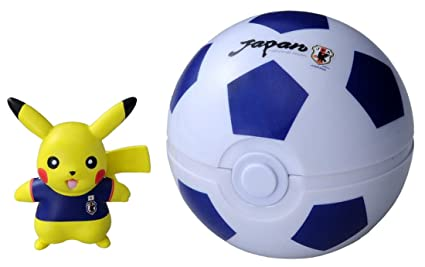 bb4c1c496fb Pokemon Japan national football team with Pokemon Monster Collection Japan  representative Pikachu