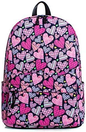 Hikker Link Pattern Backpack Rucksack Bookbag