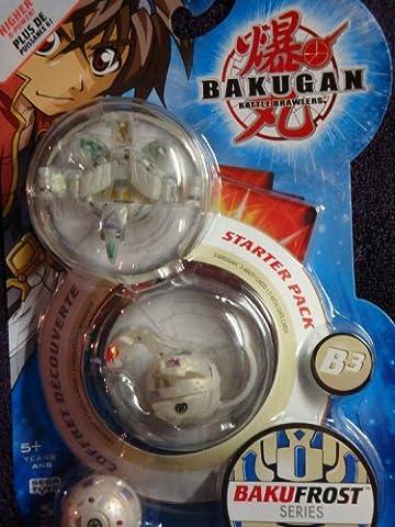 Bakugan Awesome Higher Power Bralwers Stug Atmos, Myriad Hades, Obis Omega Bakufrost Series Including Ability & Gate - Skyress Starter Pack