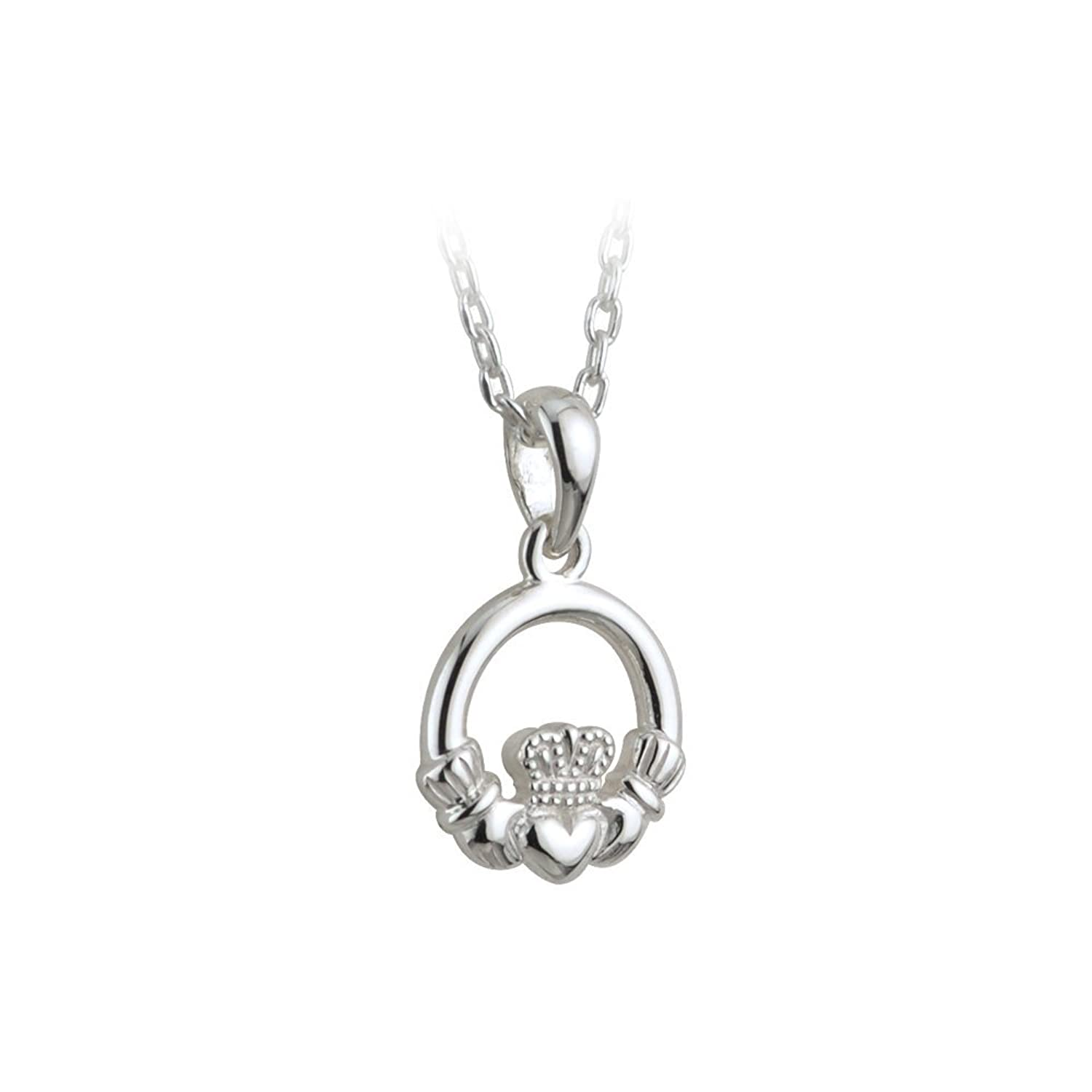 pendant necklace claddagh p htm silver