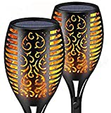 New Upgraded Version 2 Pack Solar Torch Flame Light Outdoor 96 LED Dancing