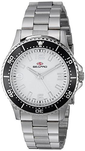 Seapro Women's SP5410 Tideway Analog Display Quartz Silver Watch