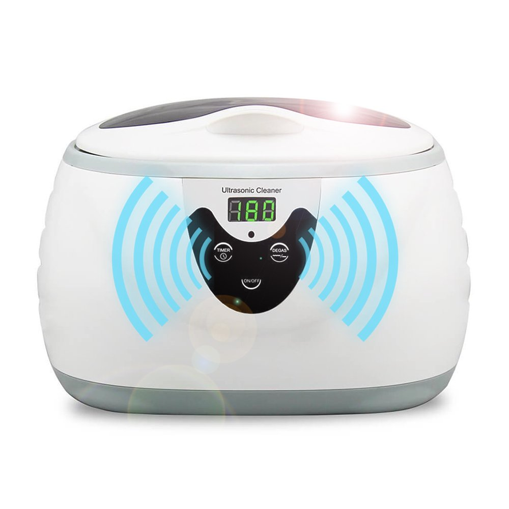 Ultrasonic Cleaner,HOMMINI 600ML Ultrasonic Jewelry Cleaner Machine Small Size 42000 Hz 5-step timer with Basket/watch stand for Eyeglasses Watches Rings Pacifier Necklaces Coins Razors Dentures Combs