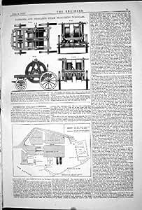 1871 MUELLES DE ARADO DE PORTSMOUTH DEL CHIGRE DEL VAPOR DE LAS CARRETILLAS QUE DIRIGEN STEWARTS