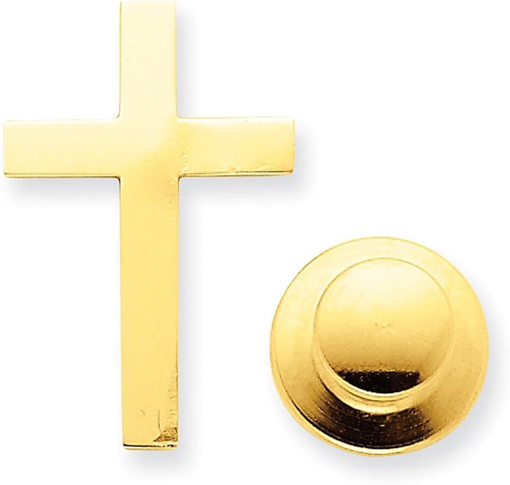 Lex /& Lu 14k Yellow Gold Cross Tie Tac LAL89438