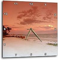 3dRose dpp/_22132/_3 Beachy Peach-Wall Clock 15 by 15-Inch