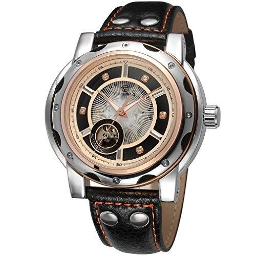forsining automático para hombre vestido reloj de pulsera Dial de color negro con piedras fsg8091 m3t2