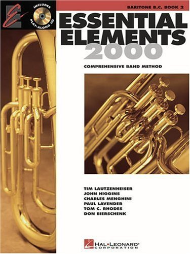 Essential Elements with EEI Baritone Bass Clef Book 2 by Various (2000-06-01)