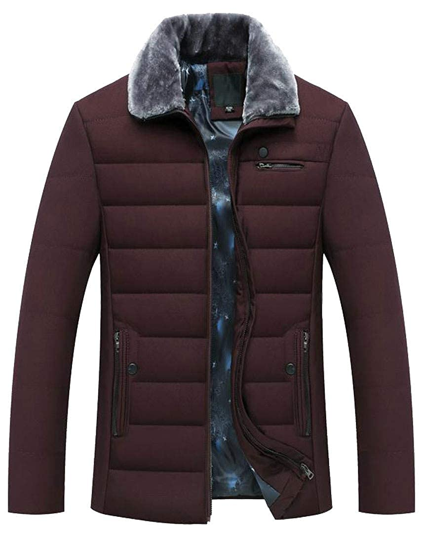 C/&H Mens Puffer Quilted Outwear Winter Thick Parka Coat Jacket