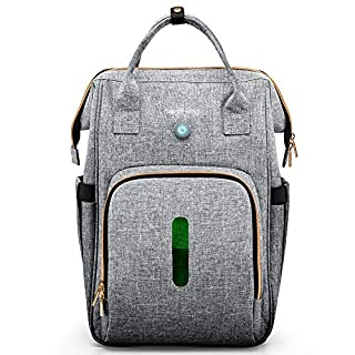 Diaper Backpack with Baby Bottle Sterilizer, Ozone Sanitizer Bag, Kills 99% of Germs, 36L Large Unisex Baby Bags Multifunction Travel Backpack for Mom and Dad, Waterproof and Stylish