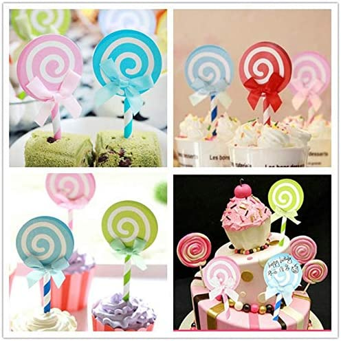 LW 16 pcs Gold Silver Ball Shaped Paper Jam DIY Cake Insert Topper Card Gift Cup Cake Paper Toothpick Party Birthday Cake Decoration