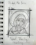 Custom order of St Aed Mac Bricc miniature- hand painted mini byzantine icon of Celtic Saint