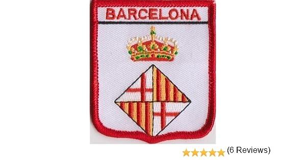 Barcelona España Parche Con Bandera Bordada: Amazon.es: Jardín