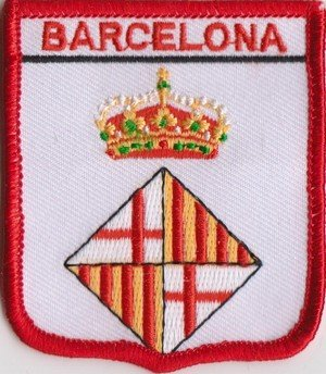 Barcelona Spain Flag Badge Embroidered Patch