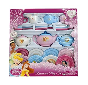 Disney princess dinnerware set window box for Kitchen set name in english