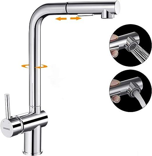 Ausziehbar Küchenarmatur Spültischarmatur Wasserhahn 360° Schwenkauslauf
