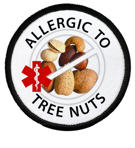 allergic-to-tree-nuts-allergy-medical-alert-3-inch-black-rim-patch