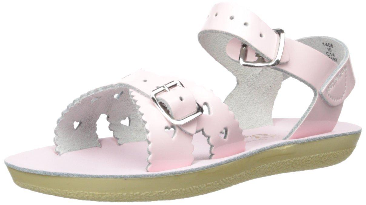 Salt Water Sandals by Hoy Shoe Girls' Sun-San Sweetheart Flat Sandal Shiny Pink 8 M US Toddler