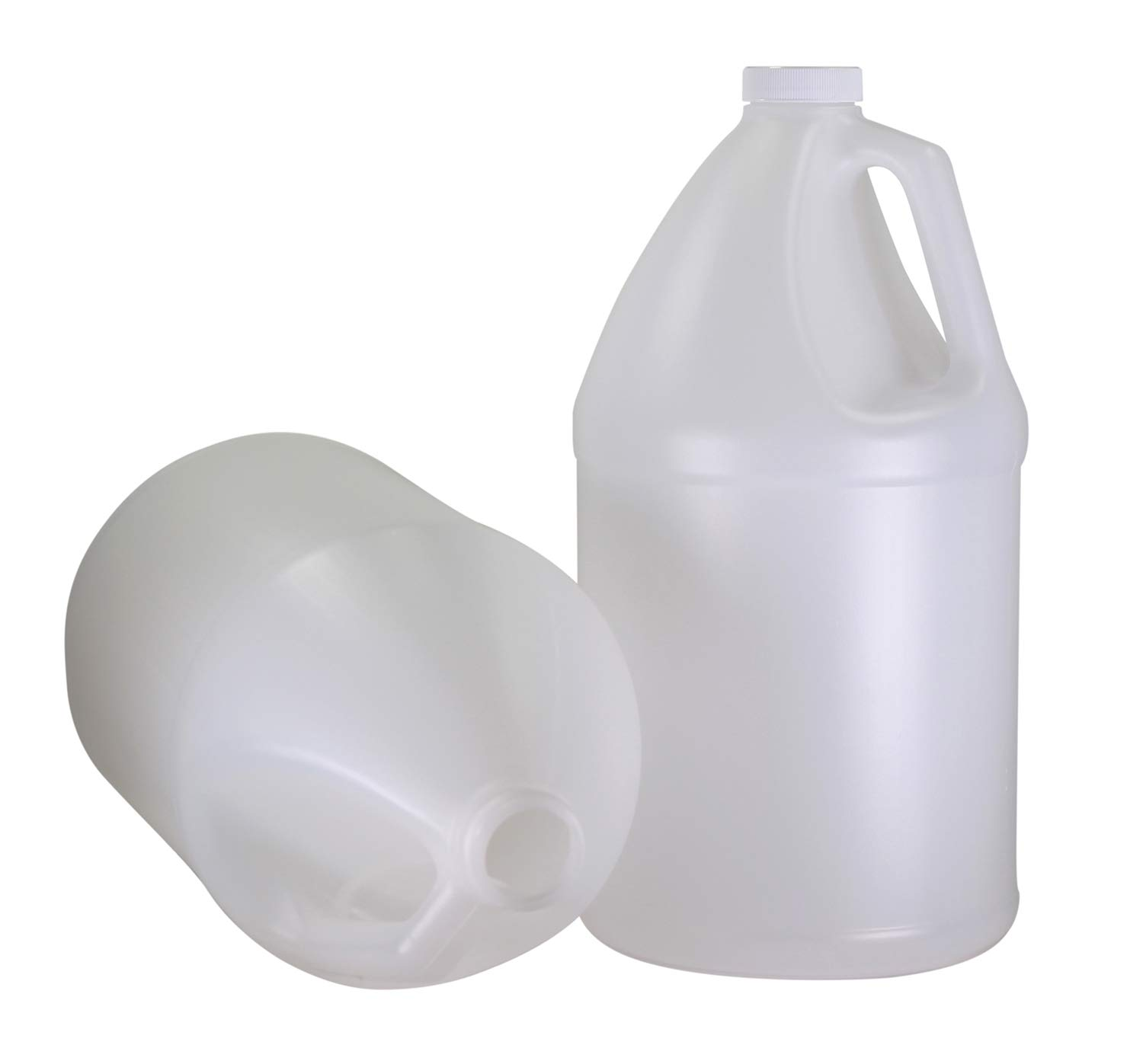 Pinnacle Mercantile 1-Gallon Plastic Jug (2 -Pack) Reusable, Food-Safe, BPA Free | Heavy-Duty HDPE Containers for Water, Sauces, Soaps, Detergents, Liquids | Screw-On Cap …