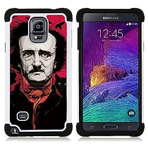 """Pulsar ( Arte Negro Rosa Actor Escritor Comedia"""" ) Samsung Galaxy Note 4 IV / SM-N910 SM-N910 híbrida Heavy Duty Impact pesado deber de protección a los choques caso Carcasa de parachoques"""
