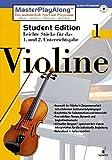 MasterPlayAlong, Student Edition 1, CD-ROMs : Violine, 1 CD-ROM Für Windows 95/98. Leichte Stücke für d. 1. u. 2. Unterrichtsjahr