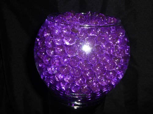 PURPLE- JellyBeadZ Brand Crystal Water Gel Beads for Wedding Party Decor Crystal Soil Jelly Balls Water Pearls Vase Filler Centerpieces 20 -