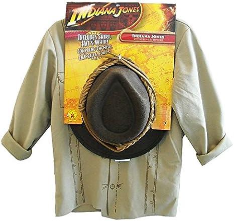 Indiana Jones - Disfraz con camisa| sombrero y látigo: Amazon.es: Juguetes y juegos