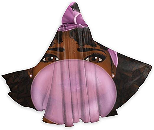 Rexing Capa de Capa Adulta Niña Africana Negra Chicle de Halloween ...