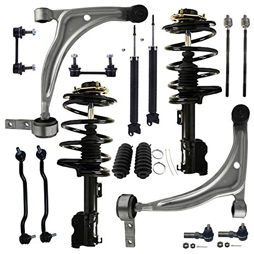 (Detroit Axle - 16PC Front Struts and Coil Springs, Rear Shock Absorbers, Front Lower Control Arms w/Ball Joints, Sway Bars, Inner and Outer Tie Rods for 2002-2006 Nissan Altima 2.5L Only)