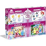 clementoni - puzzle 2x30 memo ,domino princess , 3 Years & Above