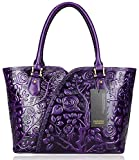 PIJUSHI Floral Purse Designer Satchel Handbags Women Totes Shoulder Bags 22328 (one size, Violet)