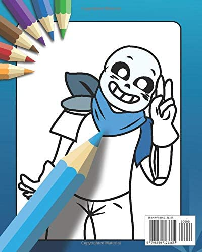 Undertale Coloring Book: Flowey And Sans Friends Coloring For Kids, Chara,  Toriel.: Coloring Book, Sans Coloring Undertale: Amazon.sg: Books