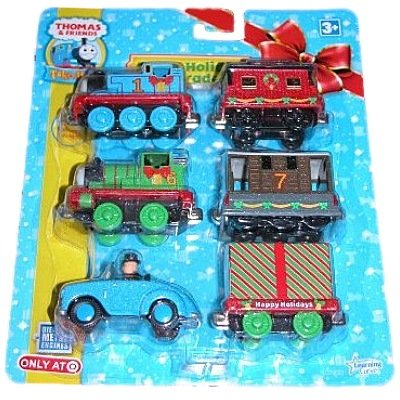 Thomas Christmas Train Set.Take Along Thomas Friends Sodor Holiday Parade Train Set
