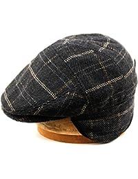 100% Wool Herringbone Winter IVY Cabbie Hat w/Fleece Earflaps – Driving Hat