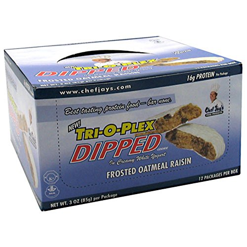 Chef Jay's Dipped Cookies Frosted Oatmeal Raisin 12 - 3 oz. (85g)
