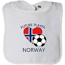 Cute Rascals Future Soccer Player Norway Tot Contrast Trim Terry Bib