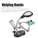 RexBeTi Led Light Magnifier & Desk Lamp Helping Hand with Magnifying Glass