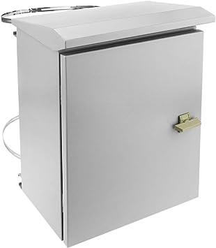 BeMatik - Caja de distribución eléctrica metálica con protección IP65 para fijación a Poste 300 x 400 x 200 mm: Amazon.es: Electrónica