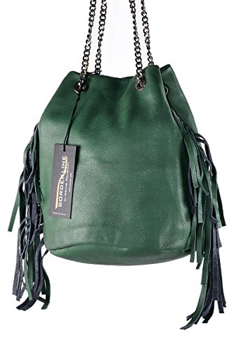 100 Bucket Made GIULIA Sac Femme Italy in Vert in Cuero BORDERLINE TdBaqHxww
