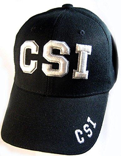 CSI Crime Scene Investigation Special Police Unit Uniforms Style, Navy Blue Baseball Cap Hat (Black) Police Uniform Caps